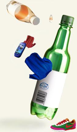 Kierrätysmuovipullo